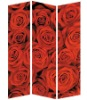 Red rose canvas screen