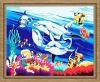 Sea world Oil Painting by numbers on 100% cotton Canvas(30*40cm)