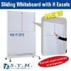 Sliding Whiteboard W/Easels