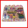 Stationery kit set ,pencil sharpener and crayon,color pencil