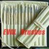 The bristle hair oil painting brush set artist brush set 18pcs with bag