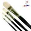 The filbert shape hair hog bristle hair oil brush for painting Z-S-002