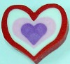 blue heart eraser