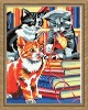 cats or animals Oil Painting by numbers on 100% cotton Canvas(30*40cm)