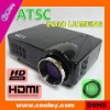 cheap led video projector hdmi 1080p with ATSC