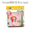 children fashion drawing board with pen