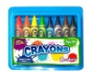colored wax crayon