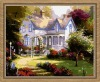 continental house Oil Painting by numbers on 100% cotton Canvas(30*40cm)