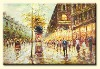 decorative pairs street   oil paintings