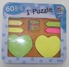 double heart shape sticky notes in tin-box