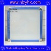 dry erase white marker board board,PS.335x335*12mm,white,grey Aluminum/plastic frame