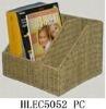 elegant delicate manual woven office book basket