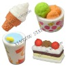 food shaped eraser sets