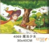handpainted modern cartoon diy oil painting by numbers,oil painting on canvas for kids gift