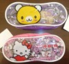 kitty pvc zipper pencil case