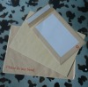 kraft or white boardback envelope with peel and seal