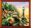 lighthouse DIY number Oil Painting on100% cotton Canvas (40*40cm)