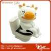 paper clip dispenser with cow on closestool design,clip container