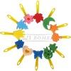 plastic handle colorful painting brush children DIY sponge brush
