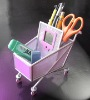 shopping-cart clock \penholder wiht calendar