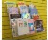 slatwall acrylic greeting cards rack